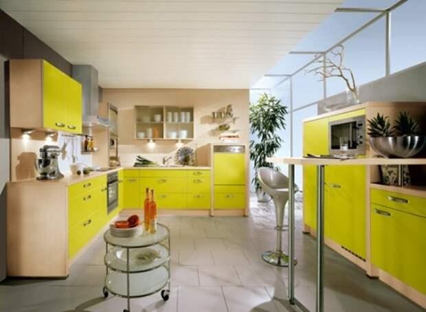 Интерьер кухни цвета лайм: фото идеи сочного дизайна