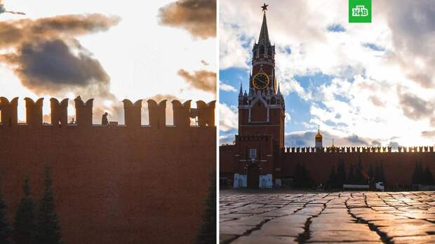 Ветер повредил три зубца на Кремлевской стене