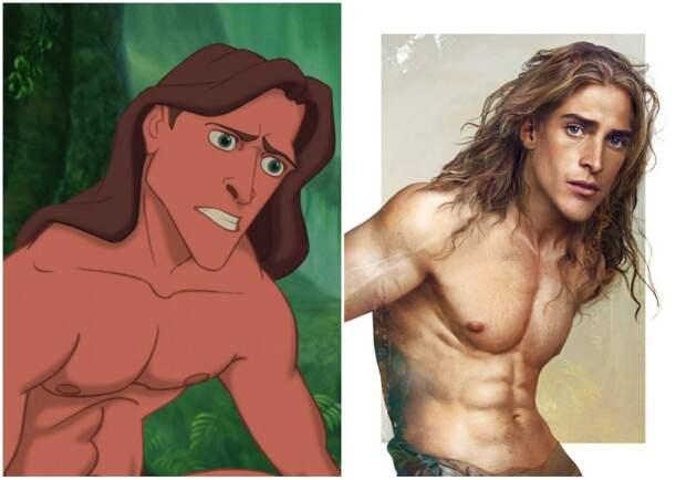Вот как диснеевские принцы выглядели бы в реальной жизни