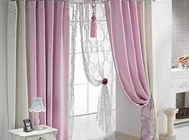 фото классических штор на дверной проем