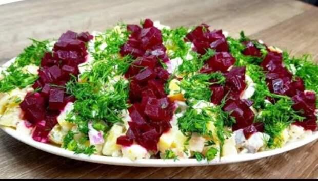 Салат из свеклы – просто пальчики оближешь. Съедят за минуту