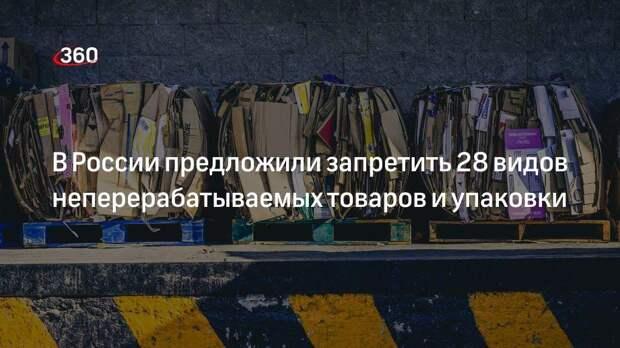 В России предложили запретить 28 видов неперерабатываемых товаров и упаковки