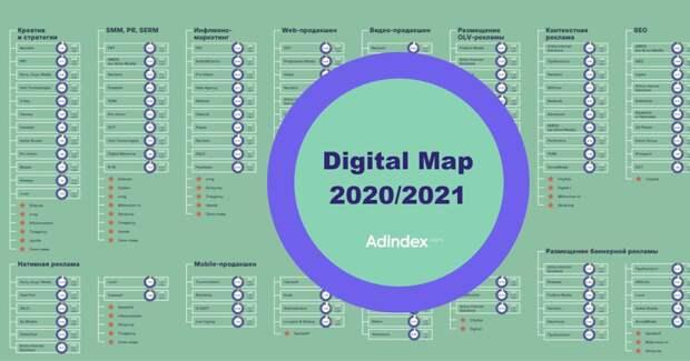 AdIndex представляет карту рынка digital-коммуникаций – Digital Map 2020/2021