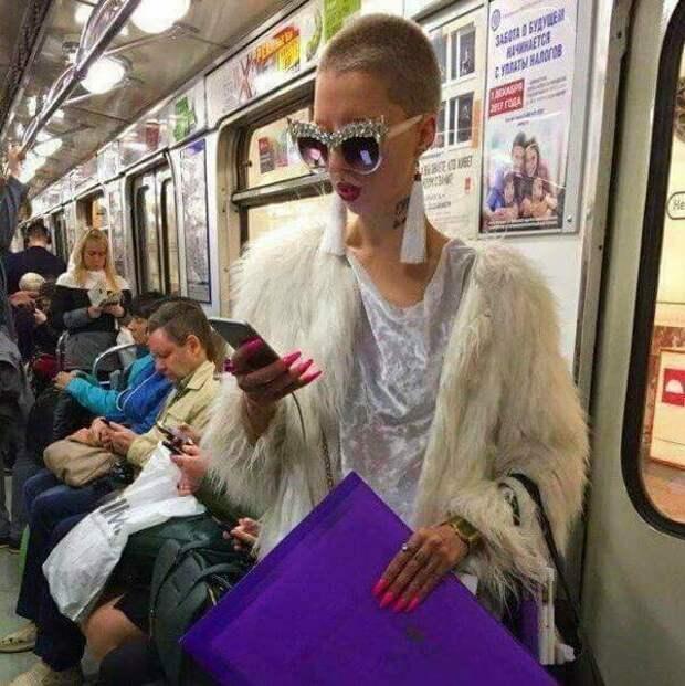 Гламурненько маразмы, метро, московское метро, питерское метро, подземка, прикол, фрики из подземки