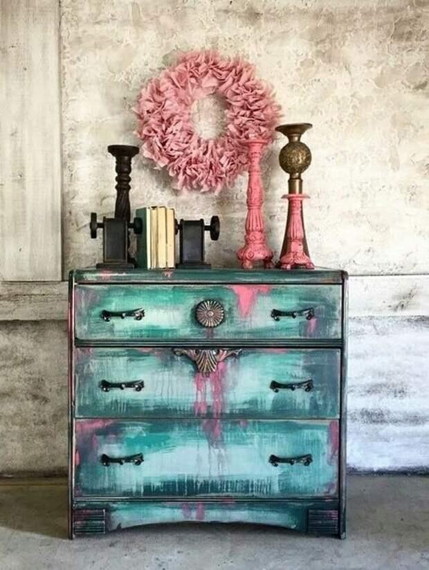 Креативный окрас старой мебели (подборка)