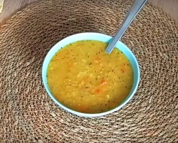 Аппетитный чечевичный суп