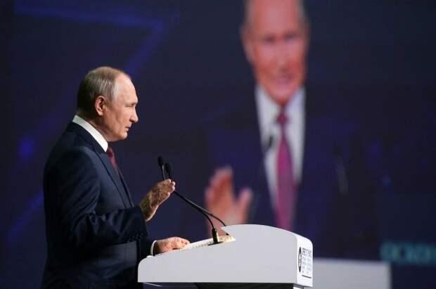 Путин назвал чушью заявления, что РФ не касаются проблемы изменения климата