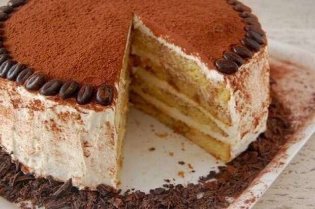 Домашний торт «Тирамису» бисквитный