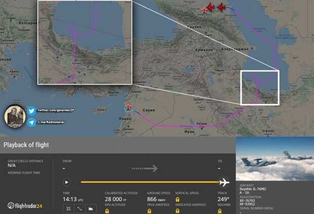 Азербайджан заблокировал пролёт российского самолета ДРЛО А-50У