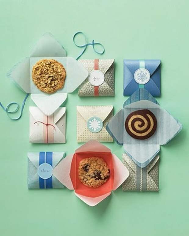 как упаковать печеньки в подарок
