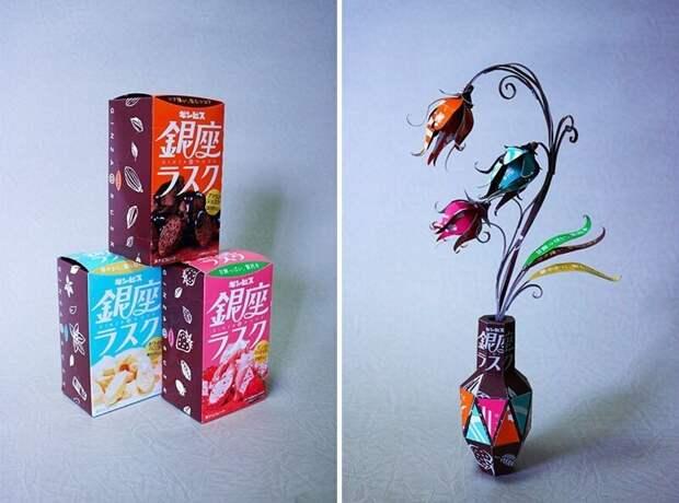 Японский художник Харукиру трансформирует упаковку впроизведения искусства