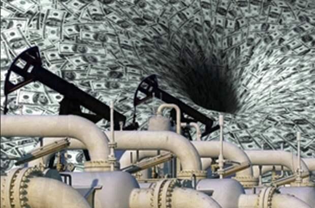 Добыча нефть газ доллар потери