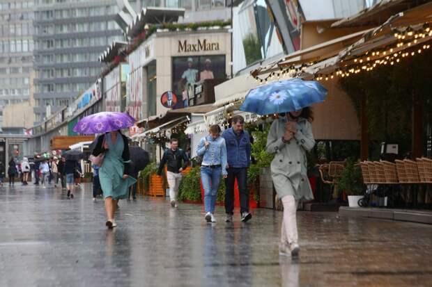 Дождливые и ветренные выходные ожидаются в Москве