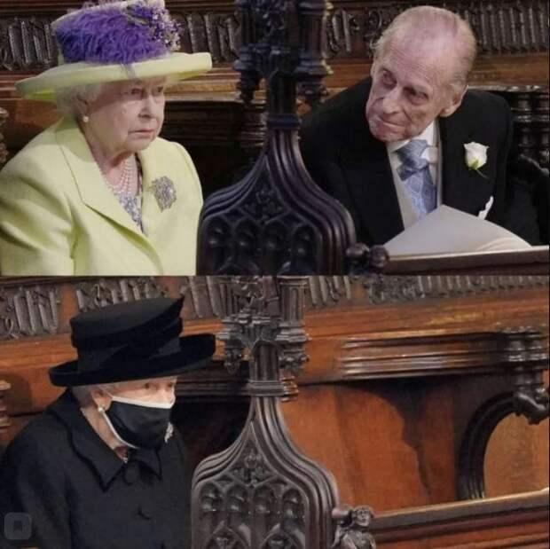 Эксклюзивные кадры прощания с принцем Филиппом. Еле сдерживала слезы