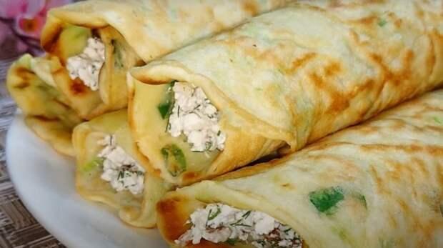 Завтрак из кабачков. Необыкновенные блинчики из кабачков: блины из кабачков с начинкой