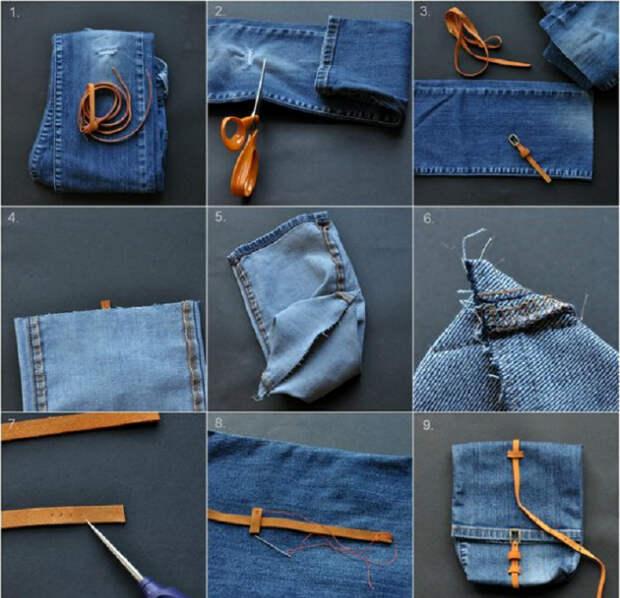 19 стильных и полезных в быту вещей, которые можно легко сделать из старых джинсов