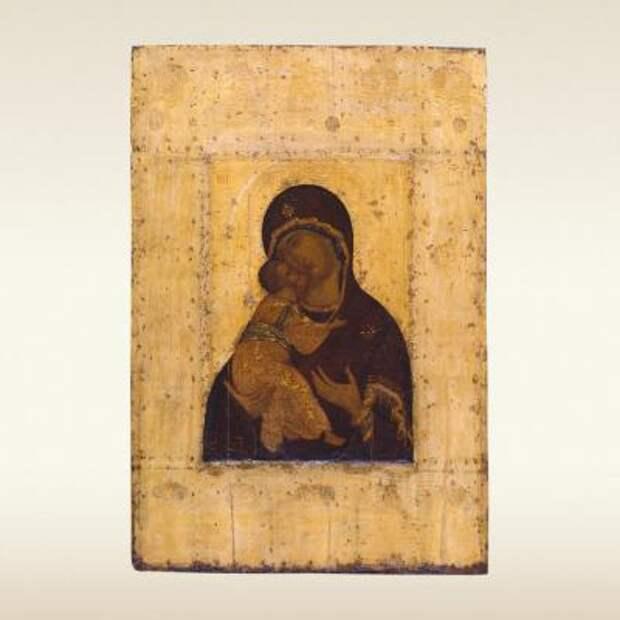 Икона: Богоматерь Владимирская. Конец 14 – начало 15 века