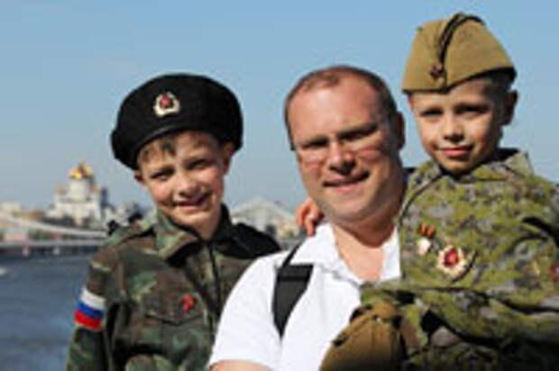 Юрий Смыслов с сыновьями Лёшей и Сашей