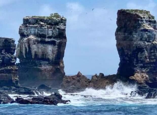 На Галапагосских островах обрушилась скала Арка Дарвина