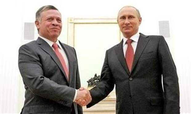 Абдалла Второй и Владимир Путин