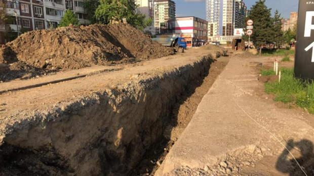 В Краснодаре строят сети освещения из-за капремонта улицы им. 40-летия Победы