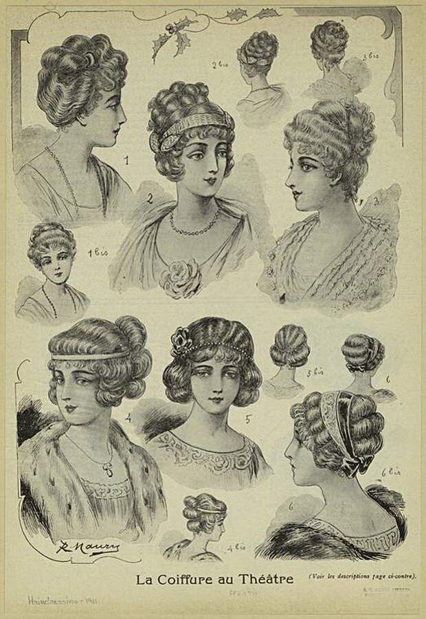 Женские причёски 1910-х годов