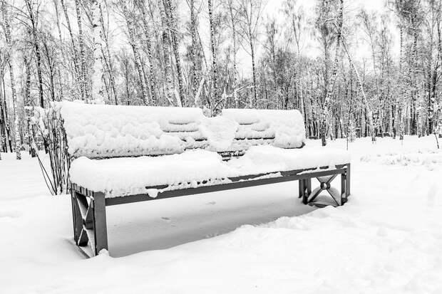 Снег, Зима, Холодно, Древесина, Замороженные, Лавочка