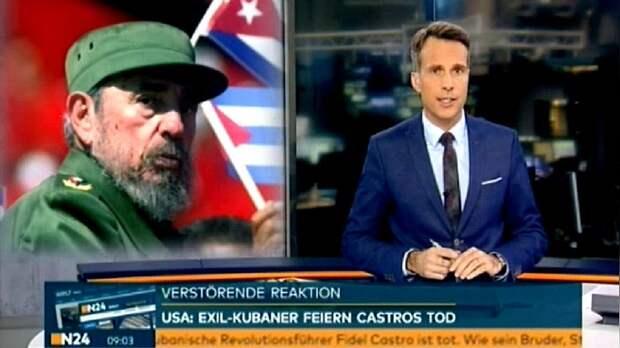 N24: В США новость о смерти Кастро встретили с ликованием