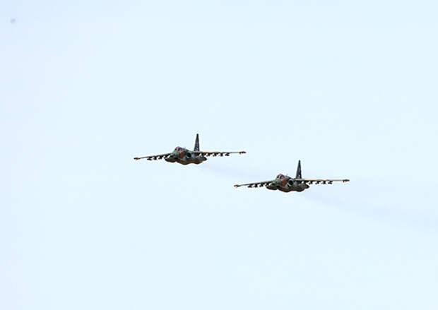 Летчики армии ВВС и ПВО ВВО провели учебно-тренировочные полеты с отработкой тактики уничтожения наземных целей в Забайкалье