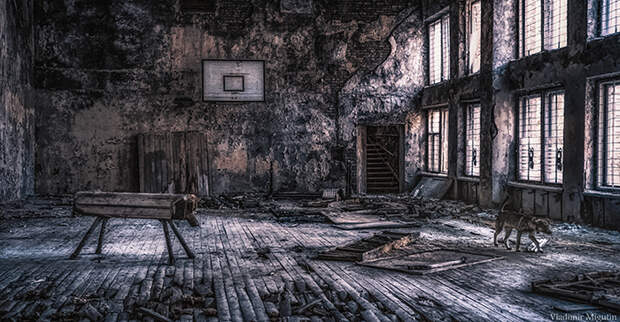 Спортзал в одной из школ Припяти. Фото: Vladimir Migutin.