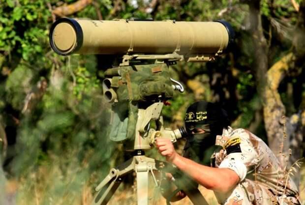 Ракета ПТРК «Корнет» сорвала башню уизраильского танка «Меркава»
