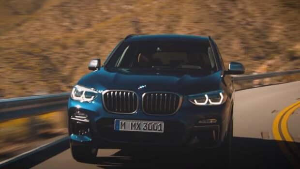 Компания BMW опубликовала изображения нового кроссовера X3