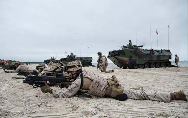 Натовские вояки грозят России сморщенными кулачками из Балтики