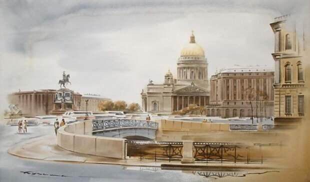 художник Константин Кузема акварель картины - 16