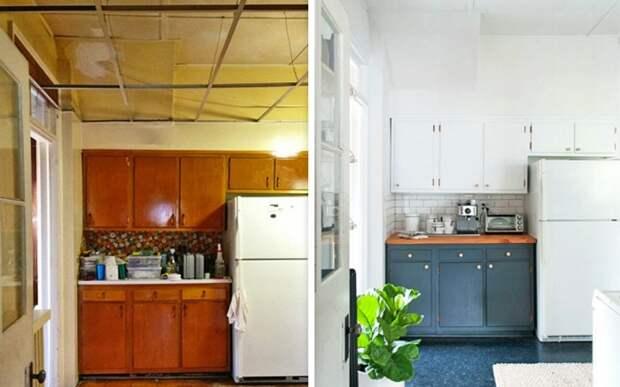 Новая кухня просто конфетка, так и не скажешь, что когда то она была старой советской рухлядью.