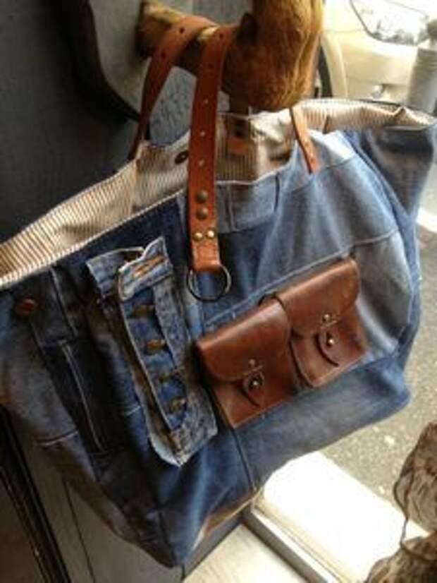 Сумки из джинсов - идеи