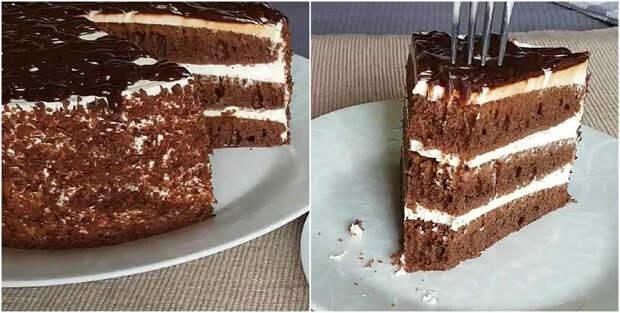 «Черный принц» — торт, который просто тает во рту. Простой и быстрый рецепт