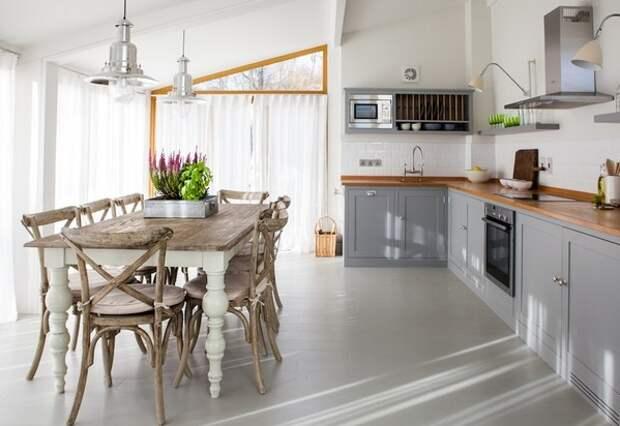 цвет обеденного стола для кухни
