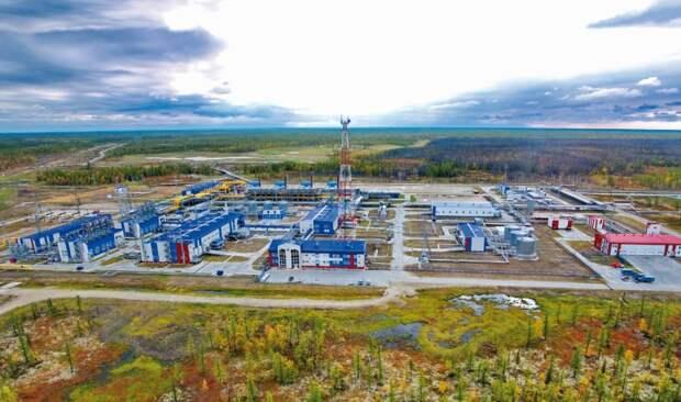 Газовый промысел на Южно-Русском месторождении