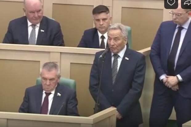 Совет Федерации удивился заявлениям сенатора Штыгашева