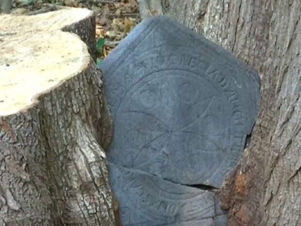 В США пара нашла у дома 300-летнее надгробие с загадочной историей