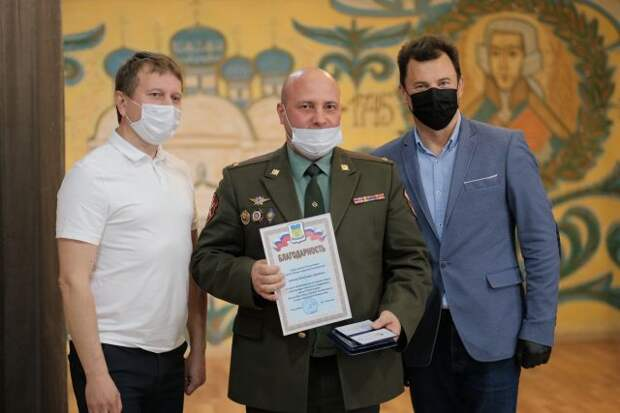 Романенко вручил медали главам военно-патриотических клубов Южного Бутова