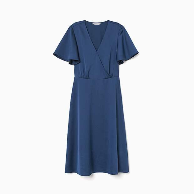 Платье из атласа H&M