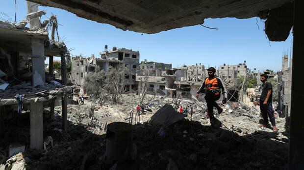 Разрушенные в результате израильских авиационных и артиллерийских ударов дома в северной части сектора Газа - РИА Новости, 1920, 15.05.2021