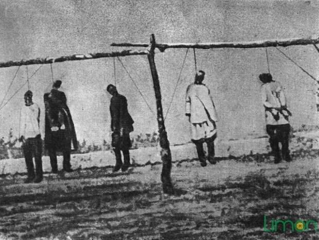 Казненные карательными отрядами царя участники восстания 1916 года.