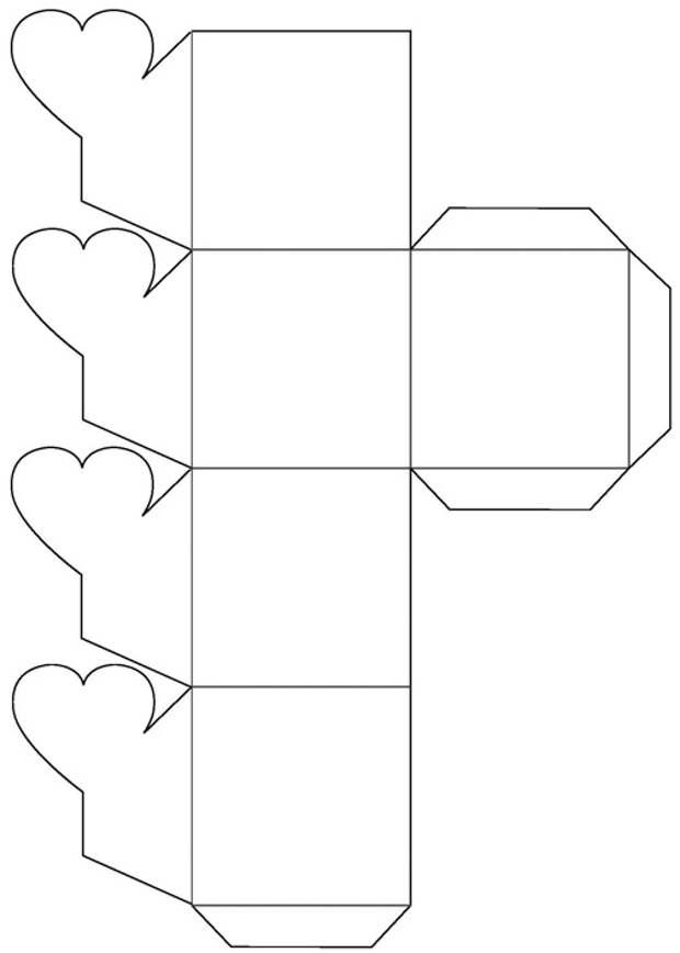 Коробочки на 14 февраля (шаблоны)