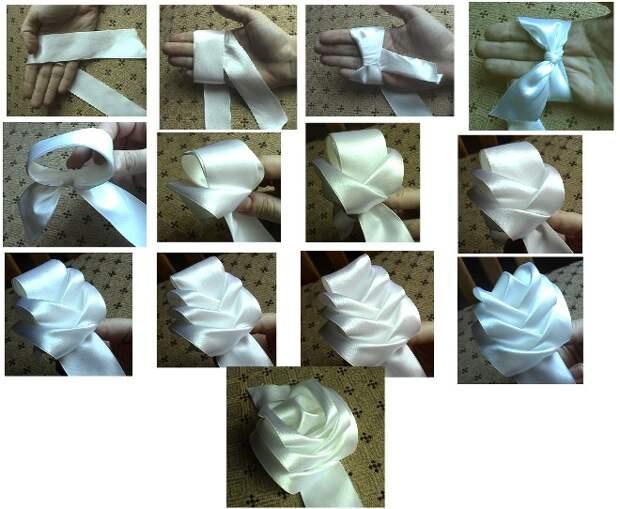 Поделки из лент: варианты изготовления оригинальных изделий (51 фото)