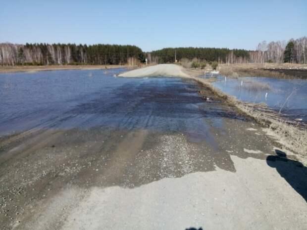 В Омской области затопило трассу в северные районы — движение ограничено