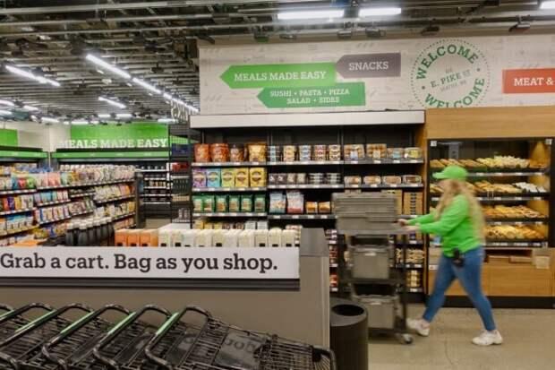 Внутри «Amazon Go Grocery»: компания открыла первый супермаркет без кассиров и кассовых дорожек