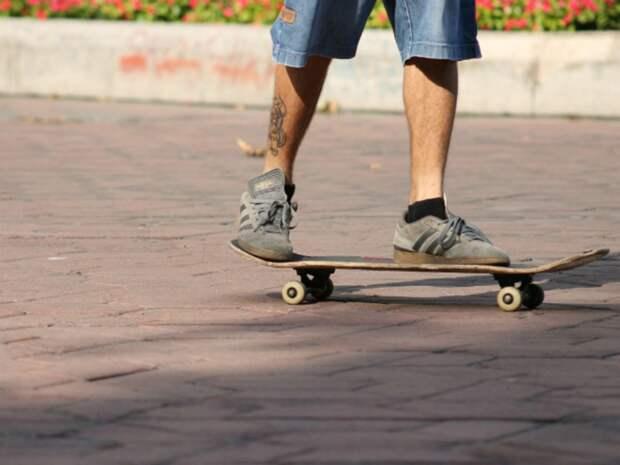 Скейтбордист в центре Петербурга захотел устроить трюк с лошадью и получил удар по голове